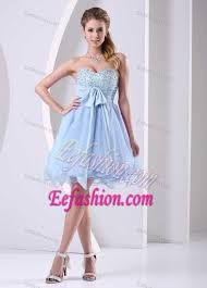 middle school graduation dresses blue sweetheart beaded chiffon middle school graduation dress with