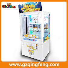 qingfeng build brick arcade game win toy prize machine coin
