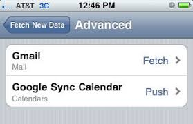 yahoo email not pushing to iphone setup iphone to fetch gmail and push google calendar