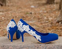 wedding shoes size 9 blue wedding shoes etsy