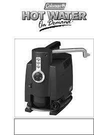 coleman stove manual coleman water heater water 2300 user guide manualsonline com