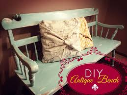 diy distressed bench youtube