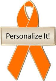 custom awareness ribbons orange custom awareness ribbons lapel pins