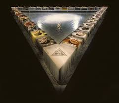 judy chicago dinner table judy chicago the dinner party 1979 artsy