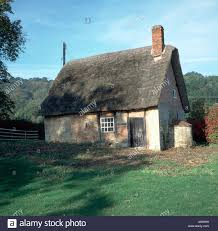 Small Cottage Small Run Down Old Thatched Cottage Stock Photo Royalty Free