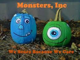 monsters inc painted pumpkins mike wazowski u0026 sulley we scare