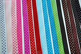 grograin ribbon femitu polka dot grosgrain ribbon 16 colors of 3 8