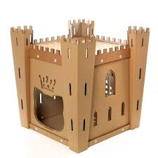 cat u0027s fortress cardboard cat house u2013 medieval toy for your fluffy