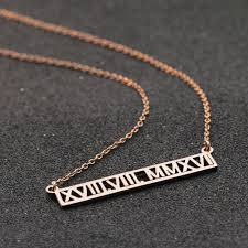customized necklace number customized necklace horizontal hollow jewelry