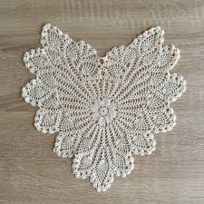 heart shaped doilies pineapple heart shaped doilies ecru 14 inch accent linens