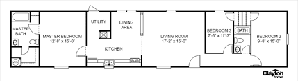 Clayton Homes Floor Plans Prices Clayton Homes 15x80foot Single Wide Floor Plan Floor Plan