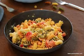 yum yum yum tri color rotini pasta salad