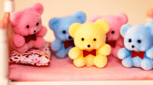 five little teddy bears jumping on the bed nursery rhyme video