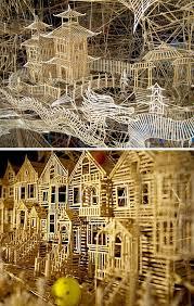 Toothpick House 3 Decades 1 Million Toothpicks U003d Amazing Mini Model City