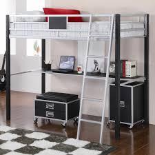 black metal twin loft bed with desk bureau mezzanine en 56 idées inspirantes bedrooms