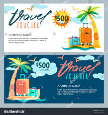 Utah gifts for people who travel images Vector gift travel voucher template tropical stock vector jpg