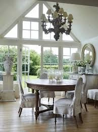 rustic looks from farmhouse dining room ideas glass dining table dining room sloping arm dining chair beige dining chairs mirrored buffet table dining table and