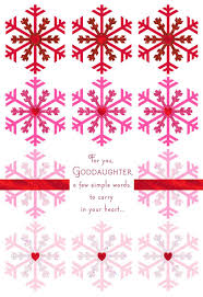 Goddaughter Christmas Ornaments Snowflakes Of Love Christmas Card For Goddaughter Greeting Cards