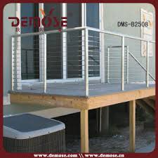 china stainless steel deck wire railling staircase railing dms