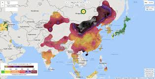 China On The Map by Beijing Air Pollution Is More Unhealthy Than Cigarettes Inverse