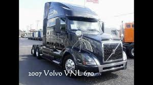 used volvo tractors for sale volvo trucks for sale 2007 vnl 670 465hp florida truck youtube