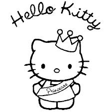 Coloriage hello kitty princesse en Ligne Gratuit à imprimer
