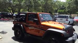 Jeep Wrangler Leather Interior Jeep Wrangler With Power Top U0026 Cooled Leather Seats 4 Sale Youtube