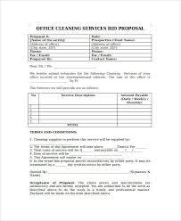 bid proposal office cleaning service bid proposal template