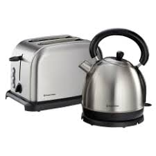Brushed Stainless Steel Kettle And Toaster Set Kettle And Toaster Combo South Africa Russell Hobbs Yuppiechef