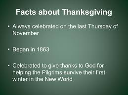 an american thanksgiving facts about thanksgiving always