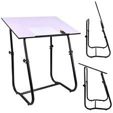 Drafting Table Adjustable Height White Drafting Art Drawing Table Stainless Steel Adjustable Height