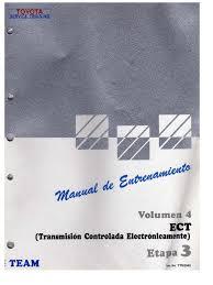 team toyota 4 ect transmision controlada electronicamente