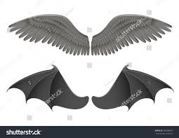 vector illustration black angel bat wings stock vector 308288837