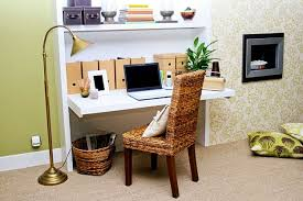 decorations minimalist home office space decor ideas with simple decorations minimalist home office space decor ideas with simple white painted wooden folding computer desk and brown laminated rattan chair also gold