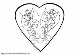 Coloriage muguet dans un coeur