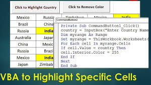 vba to highlight cells containing specific text excel vba