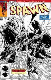 spawn 231 mcfarlene spider man black and white sketch variant