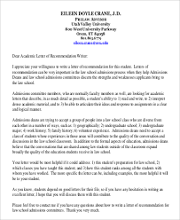 sample professional letter of recommendation 9 examples in word
