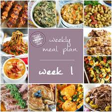 cuisine table int r weekly meal plan week 1 table for two