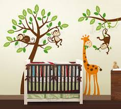 Wall Decor Stickers For Nursery Nursery Room Decor With Tree And Giraffe Wall Stickers Wallpaper