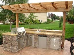 inexpensive outdoor kitchen ideas outdoor grilling station ideas kitchen cabinet patio station best