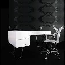 White High Gloss Computer Desk Lumiere White Gloss Desk Apartment Lifestyle