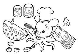 Professor Inkling Octopus Cooking Octopie In The Octonauts Octonauts Coloring Pages