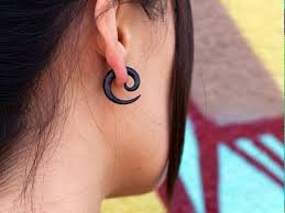 invisible earrings for school best 25 small ear gauges ideas on small stretched