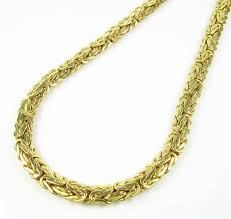 mens byzantine necklace gold images 10k yellow gold flat byzantine chain 18 inch 6 5mm jpg
