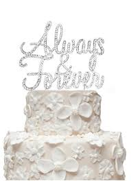 photo cake topper rhinestone always and forever cake topper david s bridal