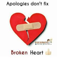Broken Heart Meme - apologies don t fix feeling sri feelings feelings ws broken heart