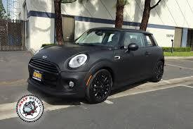 matte black car matte black mini cooper car wrap wrap bullys