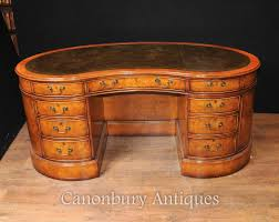 Kidney Shaped Writing Desk by Regency Kidney Bean Desk In Satinwood Writing Tables English Desks