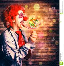 clowns for birthday scary circus clown at horror birthday party stock photography